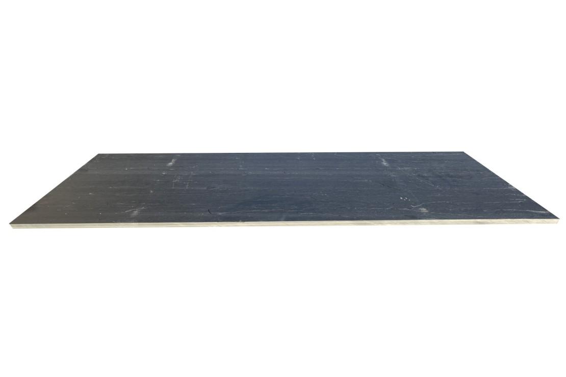 Traverse Ardoise noire Clivée 100X30X3CM