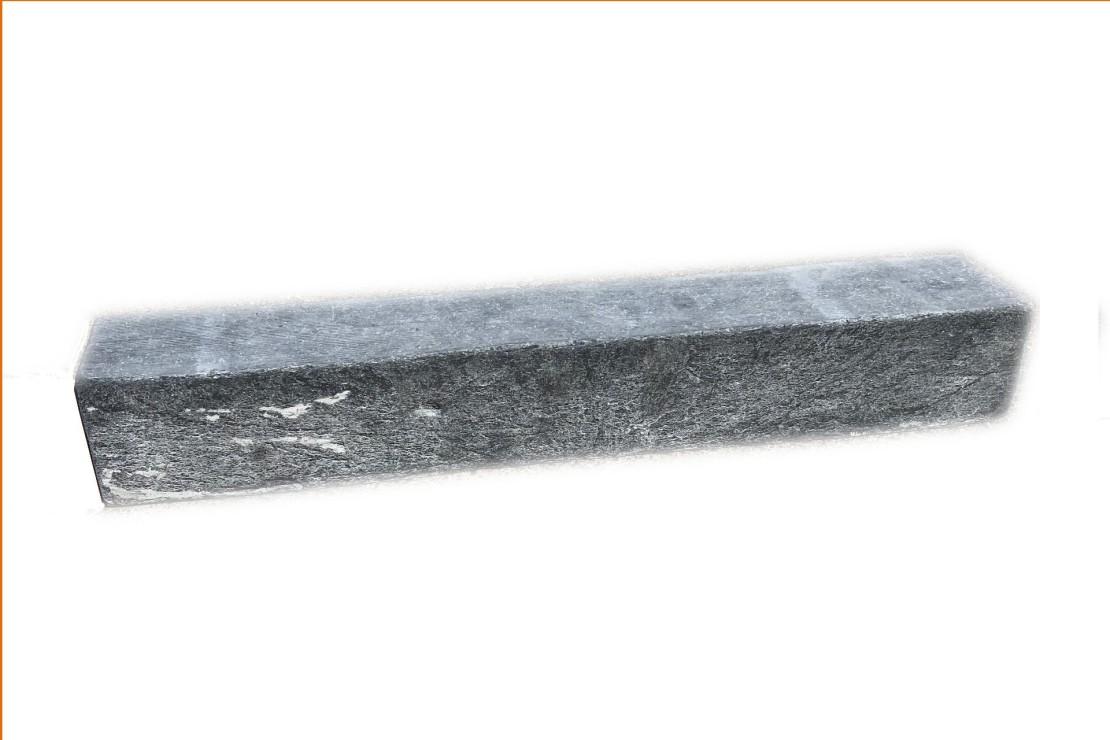 Bordure Ardoise noire Tambourinée Clivée 50x8x8