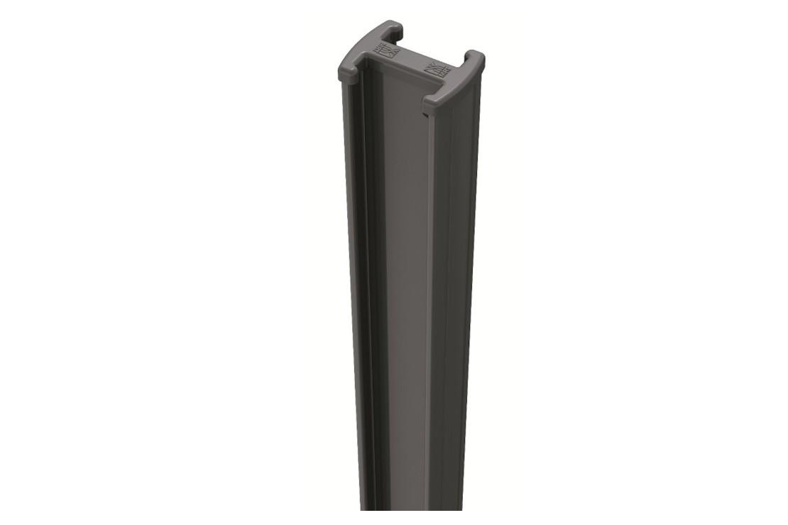 Poteau acier vert easyclip H:250 cm