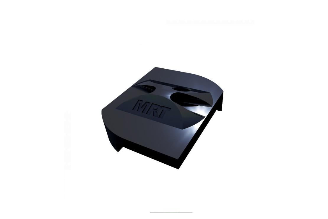 Fixation panneau rigide noir