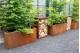 Jardinière acier corten 120x50x60 cm