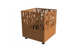 Brasero carré acier corten 40x40x45cm